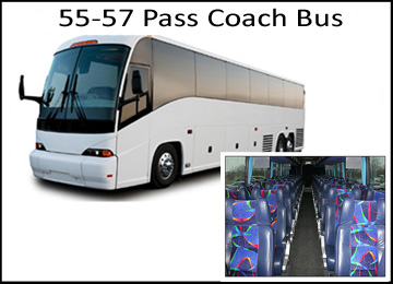Houston Wedding 55-57 Coach Charter Bus