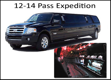 Houston Wedding 14 Passenger SUV Limo